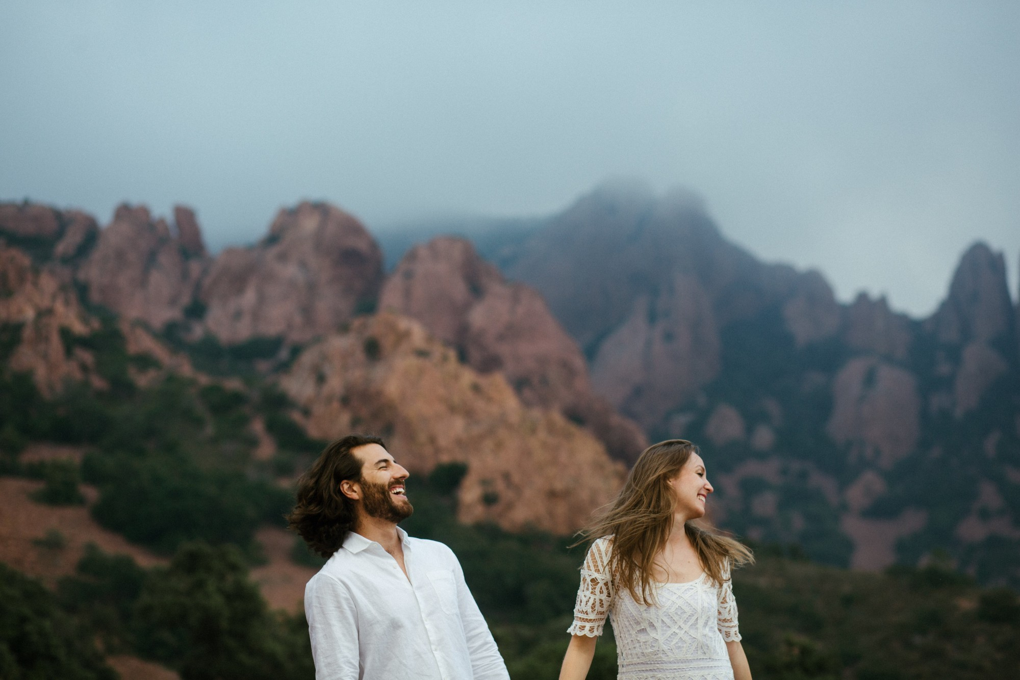hair-wind-couple-mountains